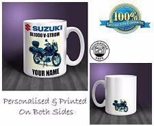 Suzuki DL1000 V-Strom Motorbike Personalised Ceramic Mug Gift (MB075)
