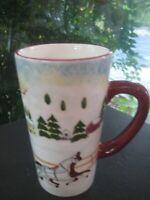 David Carter Brown Holiday Christmas Tall Latte Coffee Mug Cup Oneida 2002