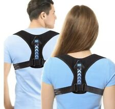 SR Sun Room Posture Corrector Unisex Adjustable Upper Back Black