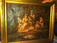 Oil On Canvas Signed by Sr. Anysia Keating 1935 VERY RARE Religious Art