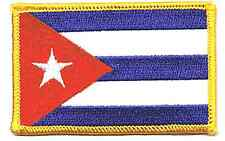 CUBA FLAG EMBROIDERED IRON ON PATCH