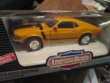 AMERICAN MUSCLE 1970 MUSTANG BOSS 302 w/ shaker hood1/18 ertl  7326 yellow  1993