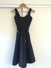 Boohoo Black Empire Waist Structure Sleeveless Belted Dress/Size 8 – ExC