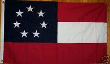 SEWN 2-PLY  5 feet X 8' 1ST NATIONAL BIG DIXIE FLAG First STARS & BARS - 7 STARS