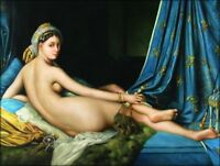 Quality Hand Painted Oil Painting Repro Jean-Auguste Odalisque 30x40in
