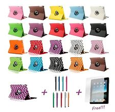 FUNDA CARCASA CUERO PARA iPad 2,3,4 Apple. 360º - ALTA CALIDAD - 19 COLORES!