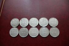 vds lot de 10 monnaies 10 francs argent TURIN 99,8 grs