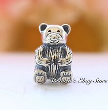 Authentic Pandora Sterling Silver Teddy Bear Charm #790395 *Retired*