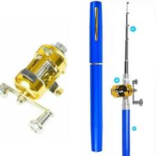 Mini Telescopic Fishing Rod Pole Set Pen Fishing Rod Pole + Reel for Outdoor EDC