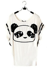 Fashion Women's Loose Batwing Sleeve Animal Print T-Shirt Summer Tee Tops