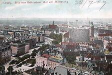 21969 tolle AK Leipzig von oben v. Rathaus Turm Thomasring Kirche Häuser 1909