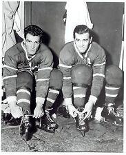 1955 Vintage Photo Montreal Canadiens Henri & Maurice Richard tie shoelaces