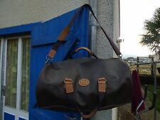 sac polochon Didier Lamarthe  en toile cuir marron