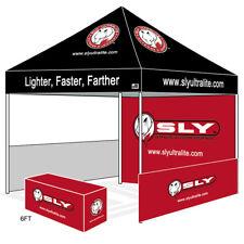 EZ Pop Up Canopy Tent 10X10 Custom LOGO Printed Vendor Craft Trade Show Booth