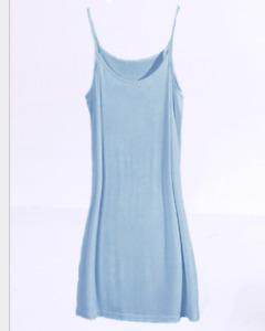 Women Cami Long Spaghetti Strap Full Slip Dress Sleepwear Night Dress Chemise