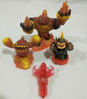 Eternal Flame Torch Trap Fire Element Set motorcycle guy Skylanders Trap Team
