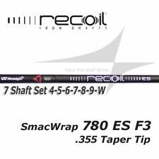 7 Shaft Set 4-W - Ust Recoil 780 Es SmacWrap Black F3 R Flex .355 Taper Tip