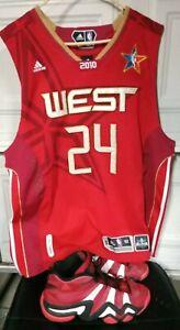 Kobe Bryant NBA All Star Game Jersey Sz 52 w Kobe Adidas shoes size 13 Rare
