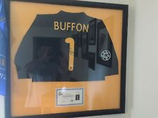 BUFFON JERSEY SIGNED AUTHENTICATED PROFESSIONALLY FRAMED AT MATTED