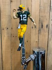 Green Bay PACKERS Tap Handle Aaron Rodgers Beer Keg Football Green Jersey