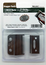 WAHL PROFESSIONAL 2 HOLE BLADE STAGGER TOOTH CRUNCH BLADE # 2161