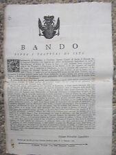 P760-GRANDUCATO DI TOSCANA-BANDO SULLA SETA 1765