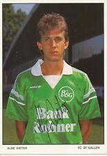 Dieter Alge   FC ST.Gallen  Fußball Autogrammkarte signiert 365760