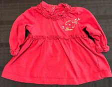 Guess Baby Girl Long Sleeve Ruffled Dress Size 3-6M