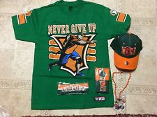 JOHN CENA WWE Authentic 15x XL Shirt Hat Pendant Wristbands Costume Set NEW