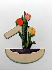 Vintage Bridge Game Tally Place Card- Colorful Deco Style Flowers