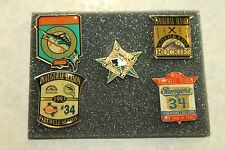 1993Set Of 5 Pins-Inaugural Season Marlins & Rockies-Farewell Season Nolan Ryan