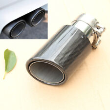 Real Carbon Fiber Exhaust Tip 63MM IN-89MM OUT Muffler Tip Stainless steel 160mm