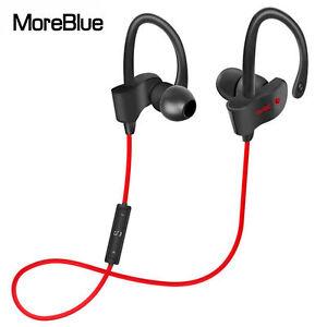 Sport Headphones Wireless Bluetooth Earphones Stereo Bass Headset Red 56S