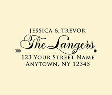 Personalized Custom Made Handle Mounted Rubber Stamp Return Address Wedding R217