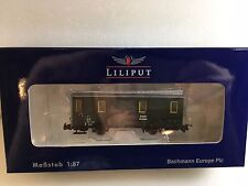 Liliput L371014 DR Baggage Coach Epoche II Green H0e Scale  Tracked 48 Post