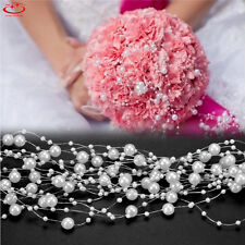 5M Faux Pearl Bead String Garland Wedding Party Table Celebration Decoration