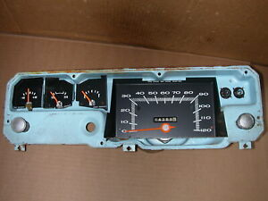 1972-76 DODGE DEMON/PLYMOUTH DUSTER  - OEM INSTRUMENT CLUSTER -120MPH