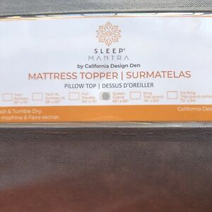 Sleep Mantra Mattress-Topper Queen White Pure Cotton - Plush Pillow Top Quilted