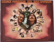 *** GEORGE HARRISON *** 1974 concert tour program - RAVI SHANKAR - 44 years old