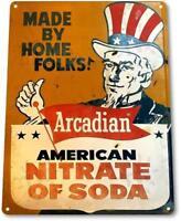 Soda Nitrate Tin Metal Sign