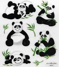 Panda Bear Scrapbook Stickers