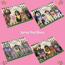 Spring Dog House Blanket, Dogs, Cats, Pet Sherpa Fleece Throw Blanket, Gifts