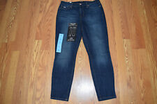 NWT Womens NINE WEST JEANS Gramercy Newton Dark Wash Skinny Ankle Jeans Size 12