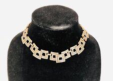 Vintage 1970's Copper Link Collar Necklace Square Links