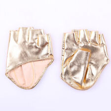 New Women Faux Leather Half Finer Fingerless Gloves Pole Dance Stage Driving