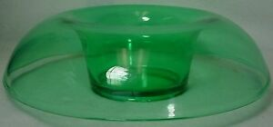 """CENTRAL GLASS crystal LINE 2000 GREEN pattern ROLLED EDGE BOWL 11-3/4"""""""