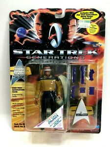 "NEW *Sealed* STAR TREK GENERATIONS 5"" Figure Lt Cmdr Geordi LaForge"