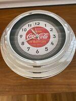 "COCA COLA DRINK IN BOTTLES 12"" PLASTIC WALL CLOCK"