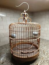 Antique Chinese Bamboo Wood Bird cage