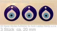 3D Nazar Boncuk Blaues Auge Evil Eye Sticker Aufkleber Auto Laptop Handy Türkiye